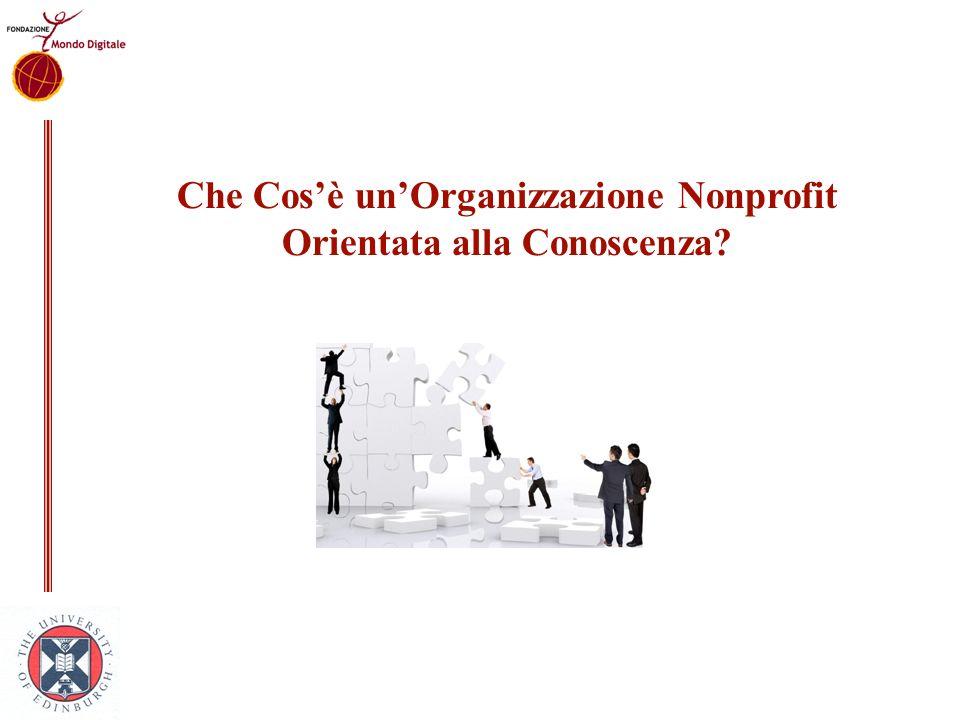 Che Cos'è un'Organizzazione Nonprofit Orientata alla Conoscenza