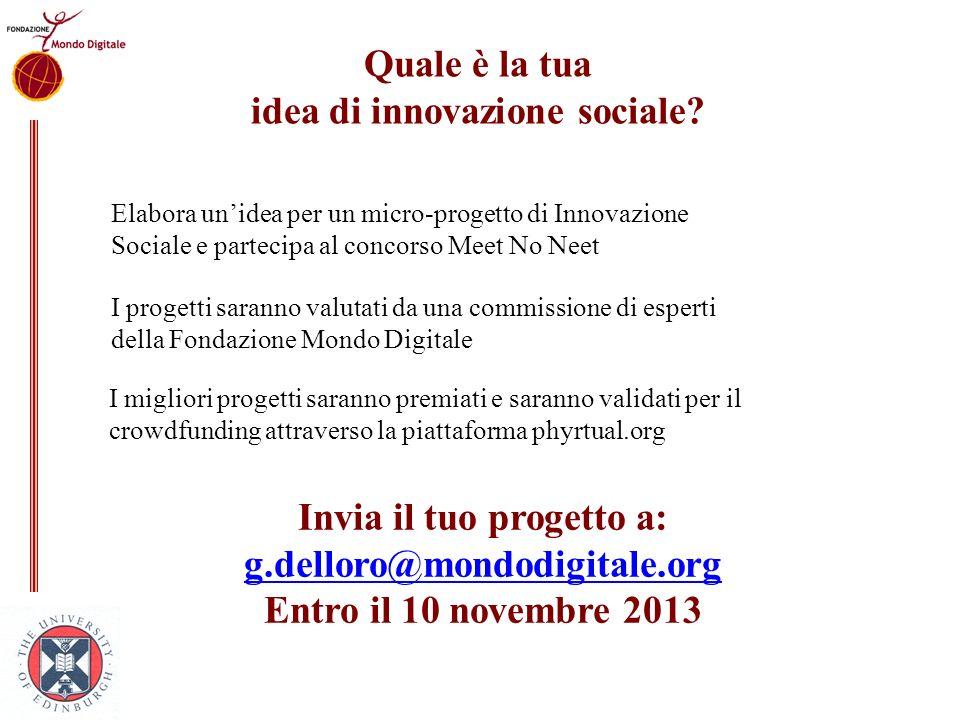 idea di innovazione sociale
