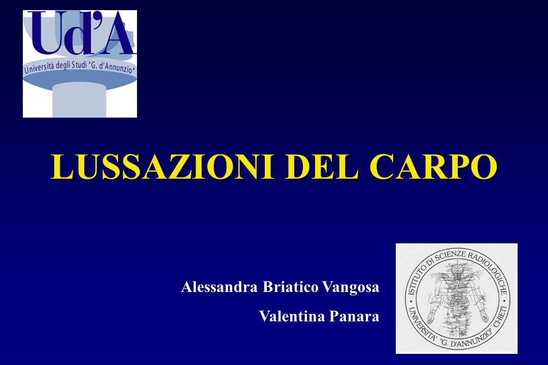 LUSSAZIONI DEL CARPO Alessandra Briatico Vangosa Valentina Panara
