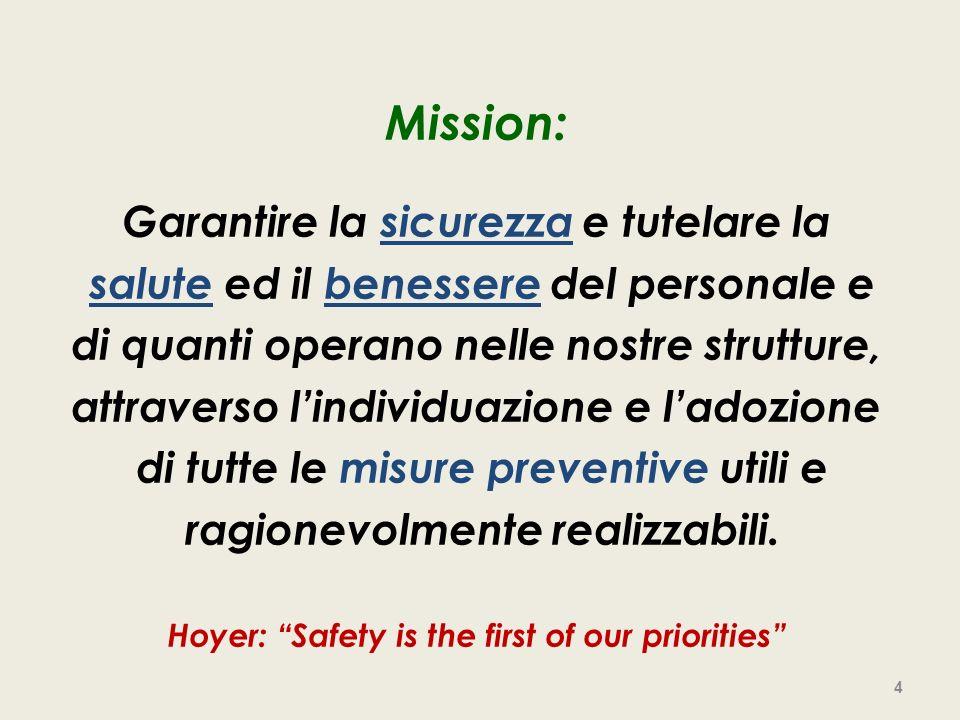 Mission: Garantire la sicurezza e tutelare la