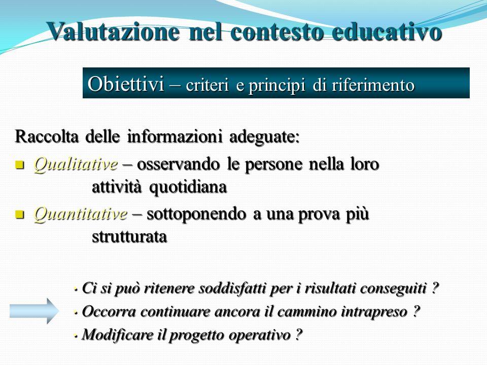 Valutazione nel contesto educativo