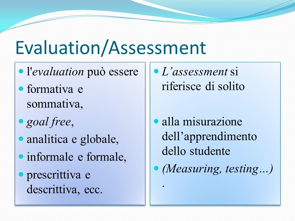 Evaluation/Assessment