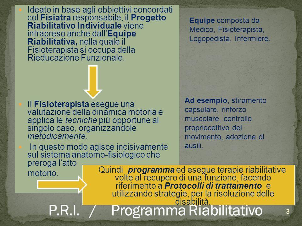 P.R.I. / Programma Riabilitativo