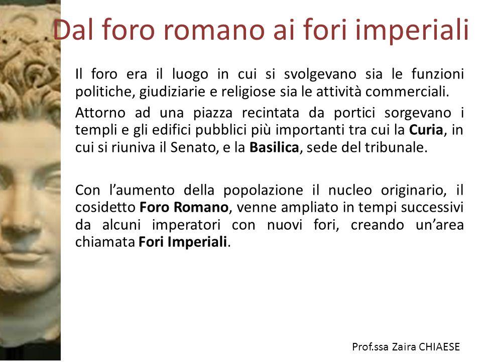 Dal foro romano ai fori imperiali