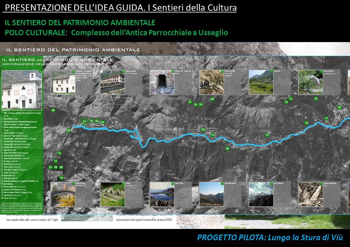 PRESENTAZIONE DELL'IDEA GUIDA. I Sentieri della Cultura