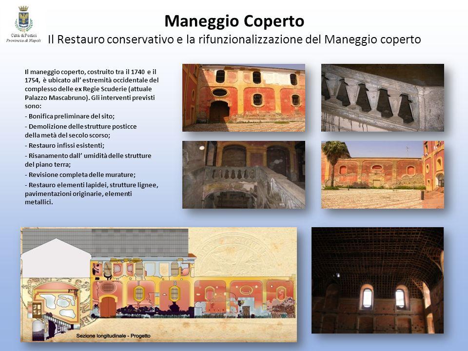 Maneggio Coperto Il Restauro conservativo e la rifunzionalizzazione del Maneggio coperto