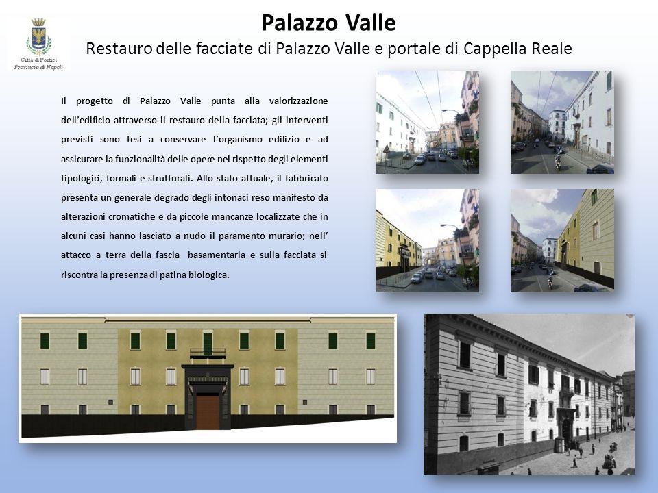 Palazzo Valle Restauro delle facciate di Palazzo Valle e portale di Cappella Reale