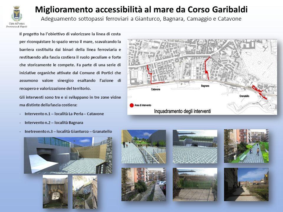 Miglioramento accessibilità al mare da Corso Garibaldi Adeguamento sottopassi ferroviari a Gianturco, Bagnara, Camaggio e Catavone