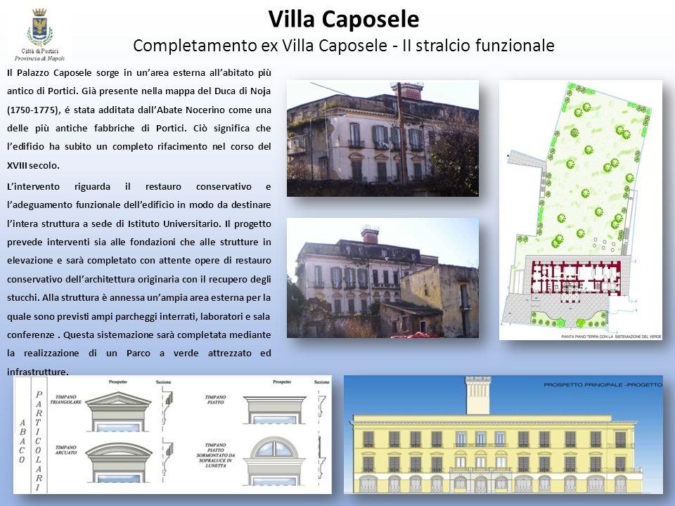 Villa Caposele Completamento ex Villa Caposele - II stralcio funzionale