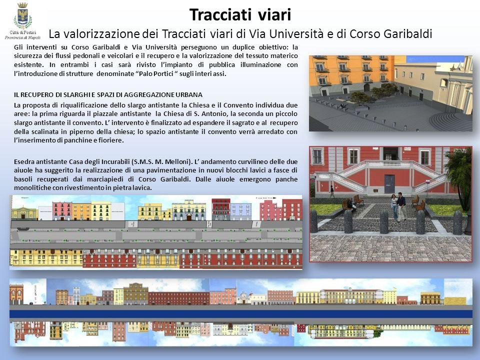 Tracciati viari La valorizzazione dei Tracciati viari di Via Università e di Corso Garibaldi