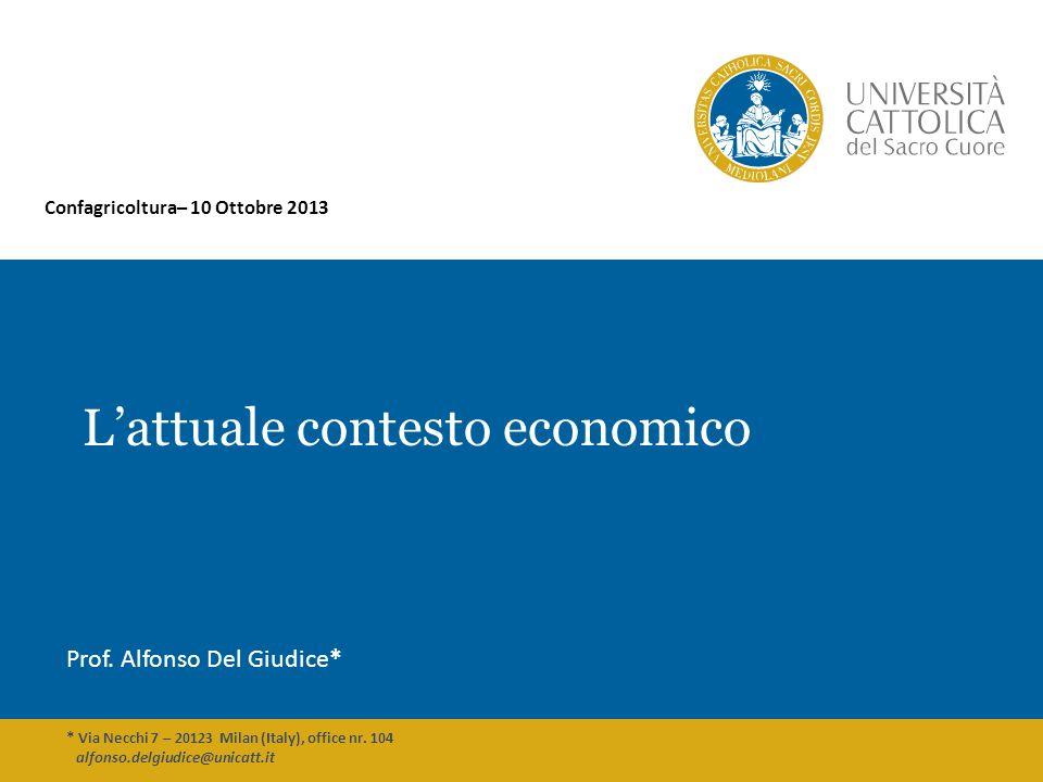 L'attuale contesto economico