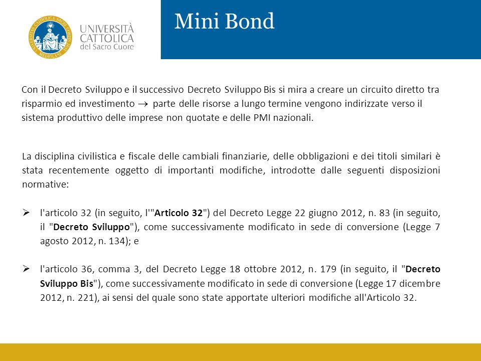 Mini Bond