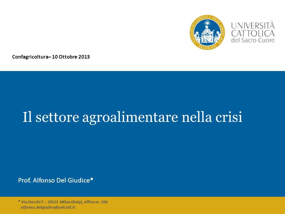 Il settore agroalimentare nella crisi