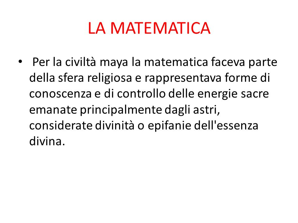 LA MATEMATICA