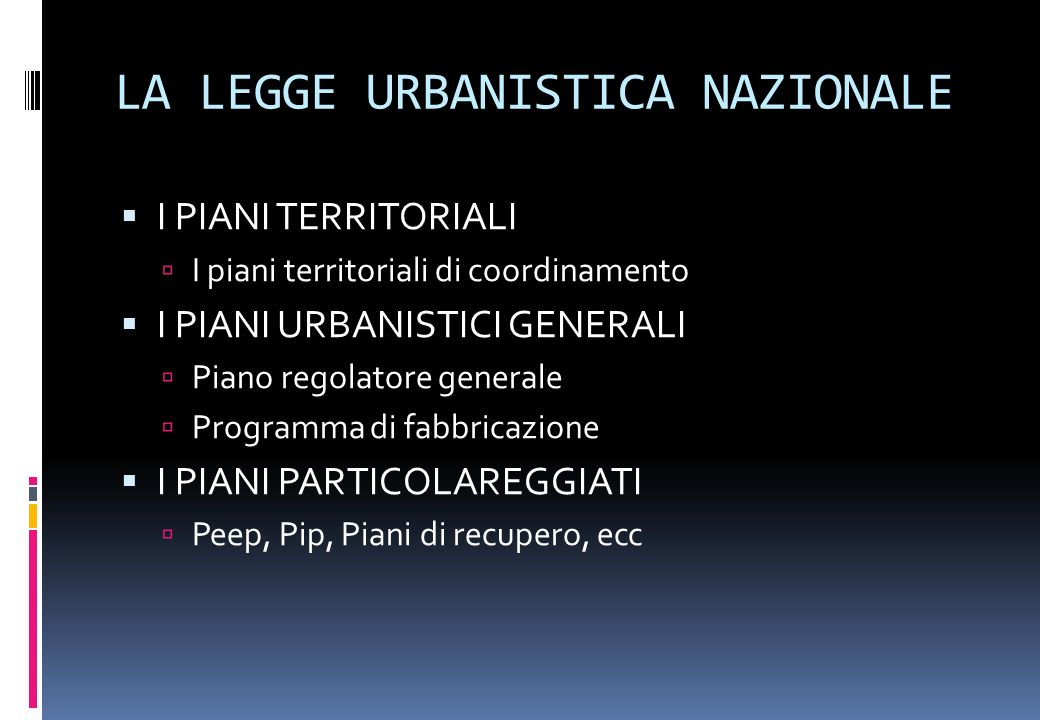 Dal progetto urbano al piano urbanistico ppt video for Piani di aggiunta di suite in legge