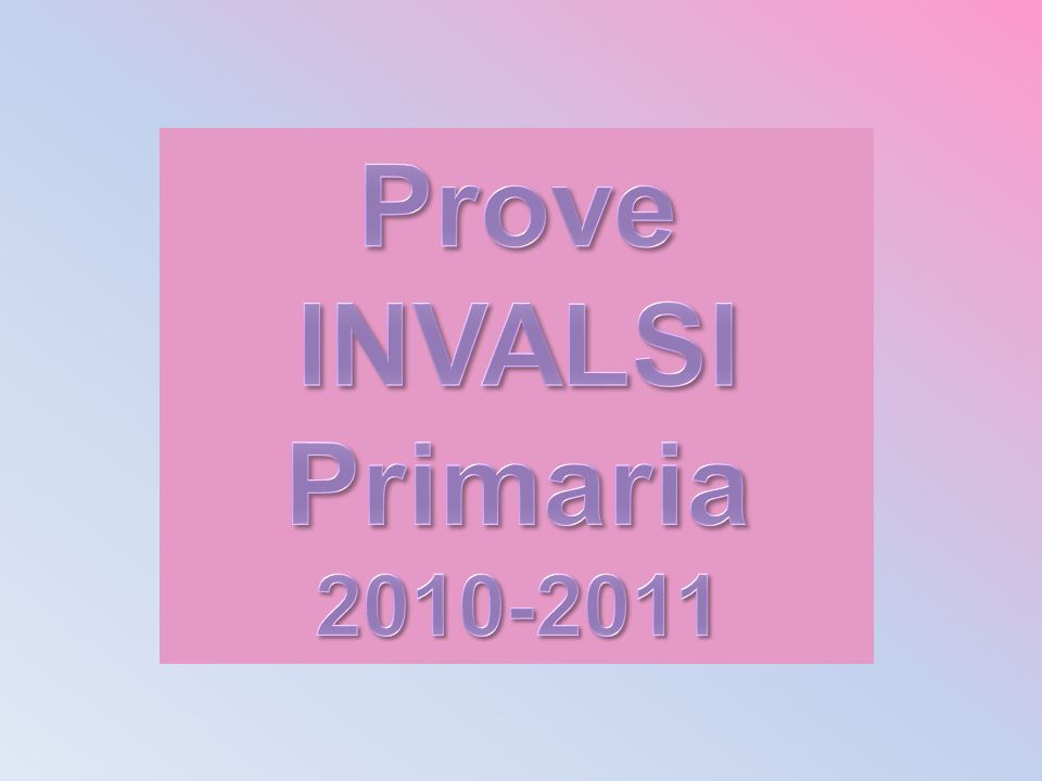 Prove INVALSI Primaria