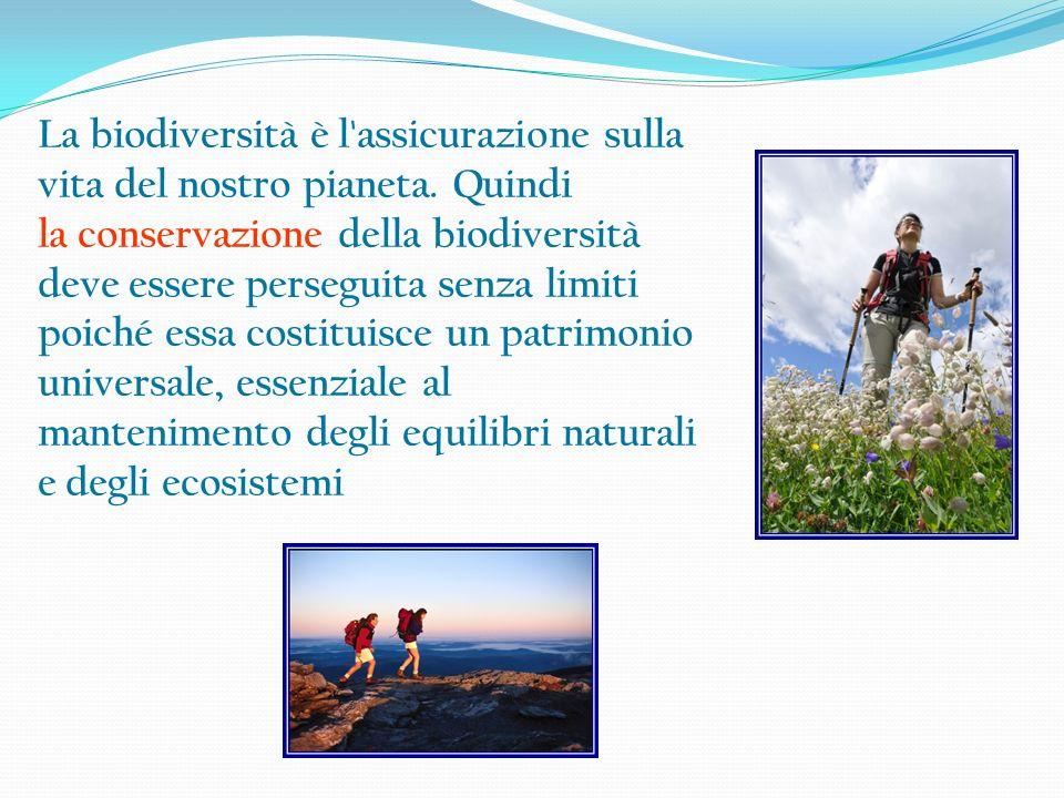 La biodiversità è l assicurazione sulla vita del nostro pianeta