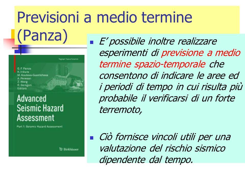 Previsioni a medio termine (Panza)