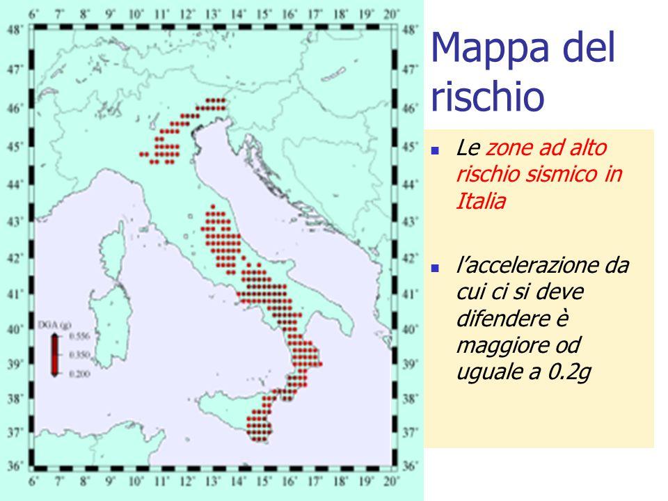 Mappa del rischio Le zone ad alto rischio sismico in Italia