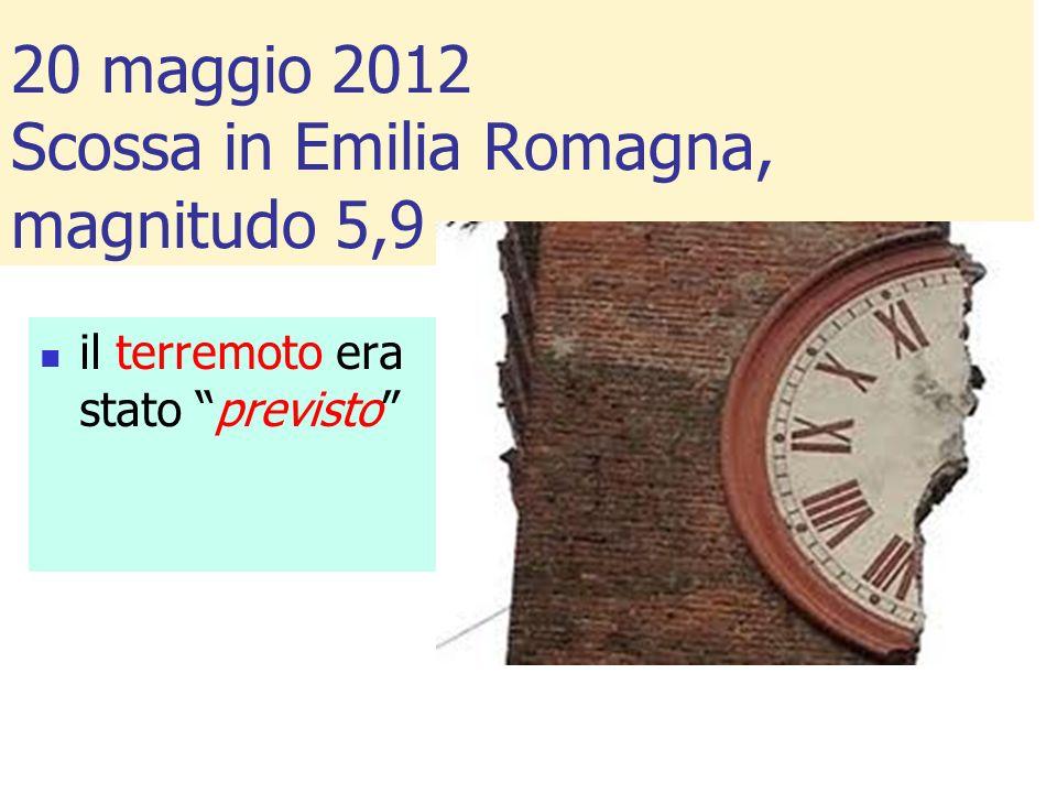 20 maggio 2012 Scossa in Emilia Romagna, magnitudo 5,9