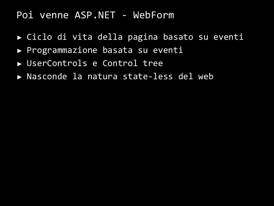 Poi venne ASP.NET - Caratteristiche