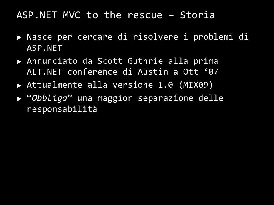 ASP.NET MVC – Caratteristiche