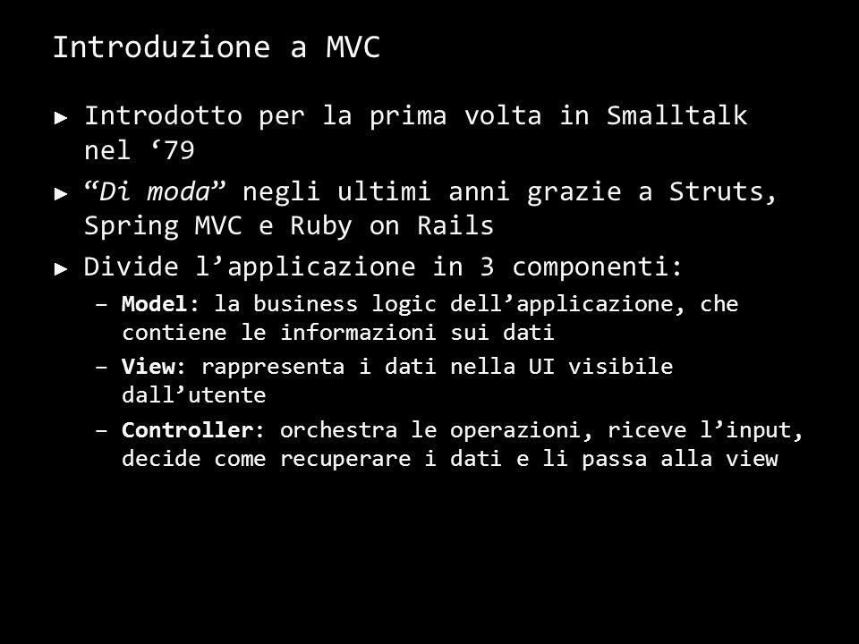 Il flusso di un'applicazione MVC