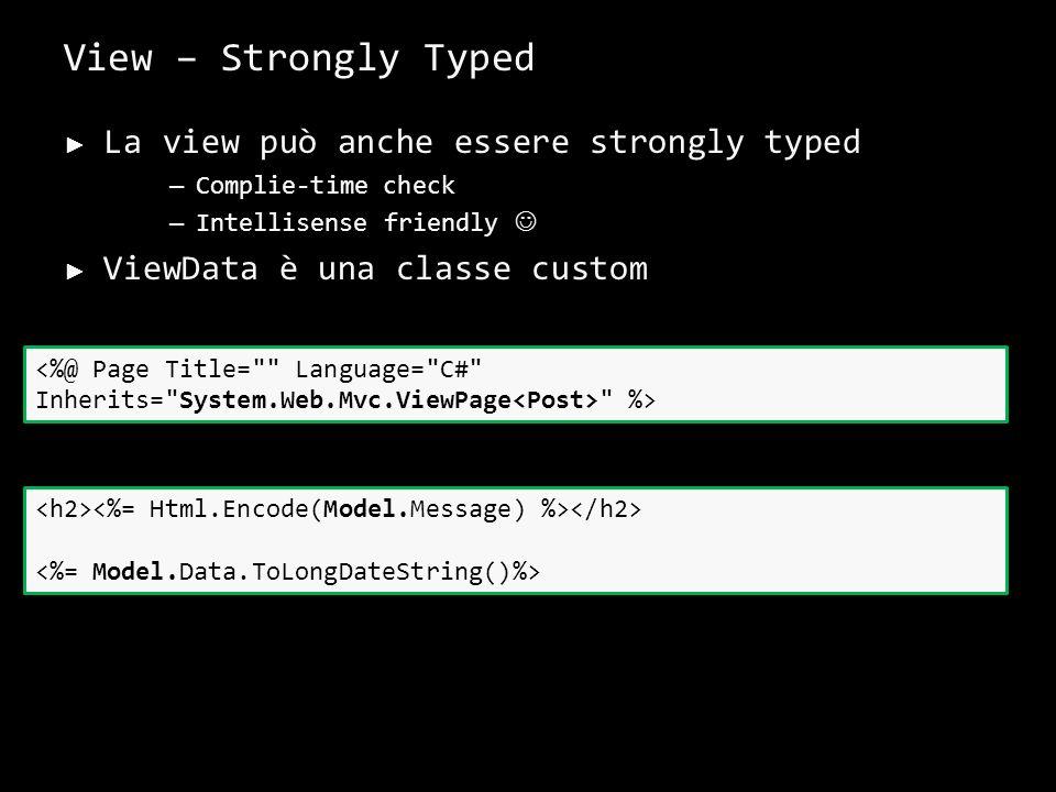 View – UI Helpers UI Helper per aiutare la scrittura di codice HTML
