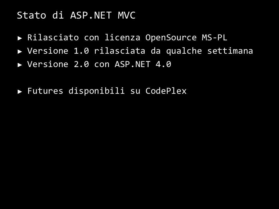 Conclusioni ASP.NET MVC è un framework che ci permette di scrivere buon software by default.