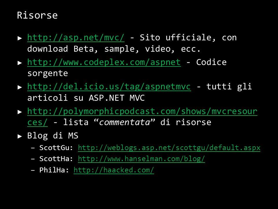 Beginning ASP.NET MVC Simone Chiaretta e Keyvan Nayyeri