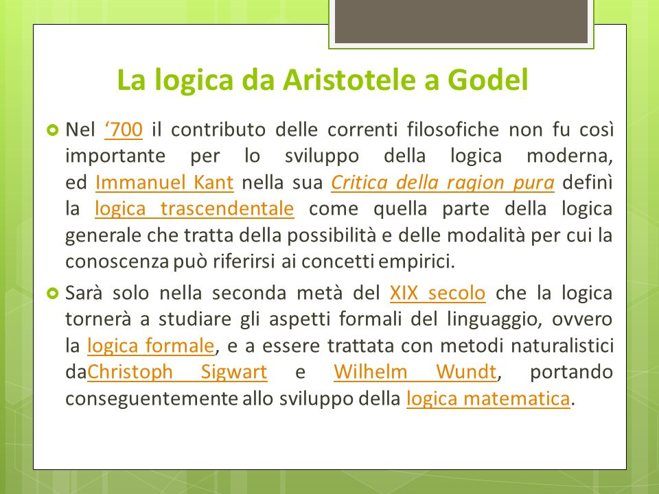 La logica da Aristotele a Godel