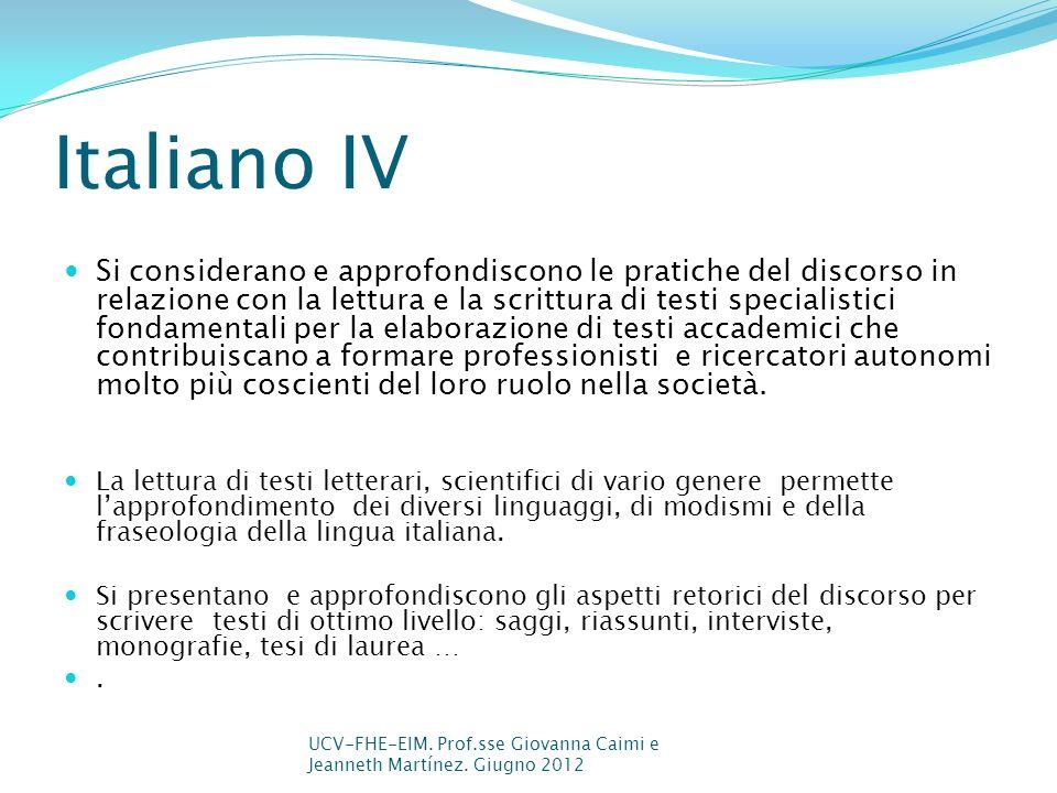 Italiano IV