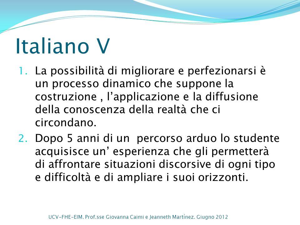 Italiano V