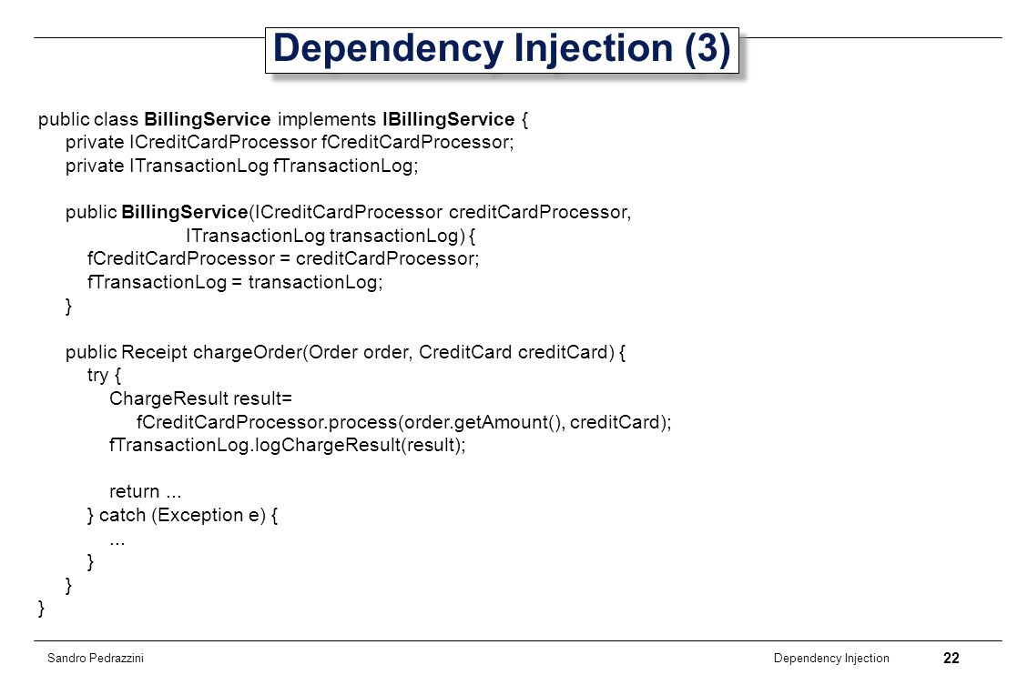 Dependency Injection (3)
