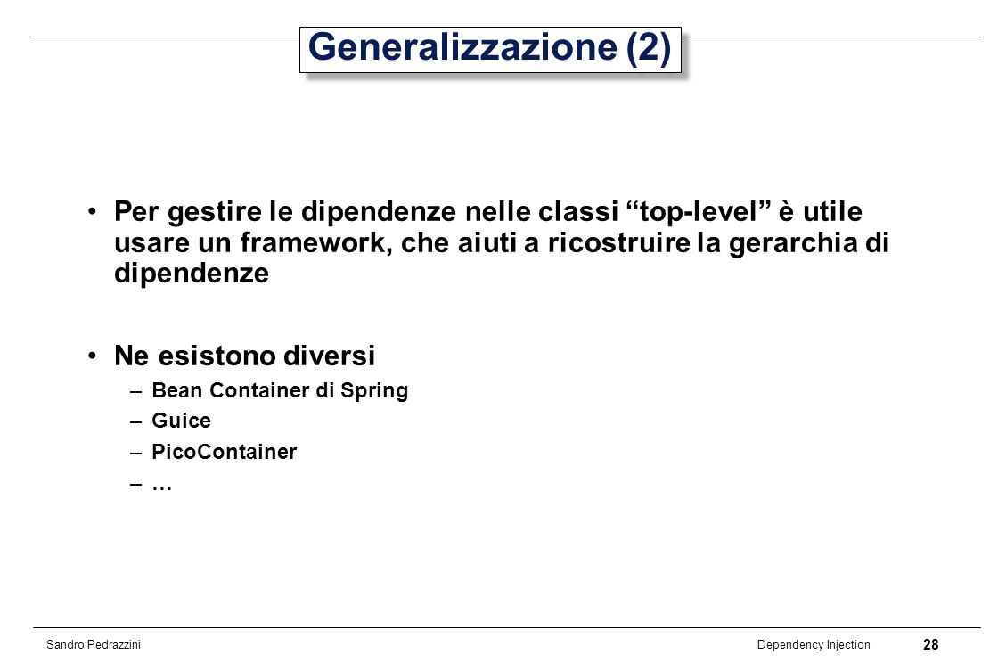 Generalizzazione (2)
