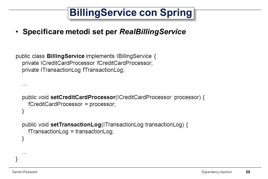 BillingService con Spring
