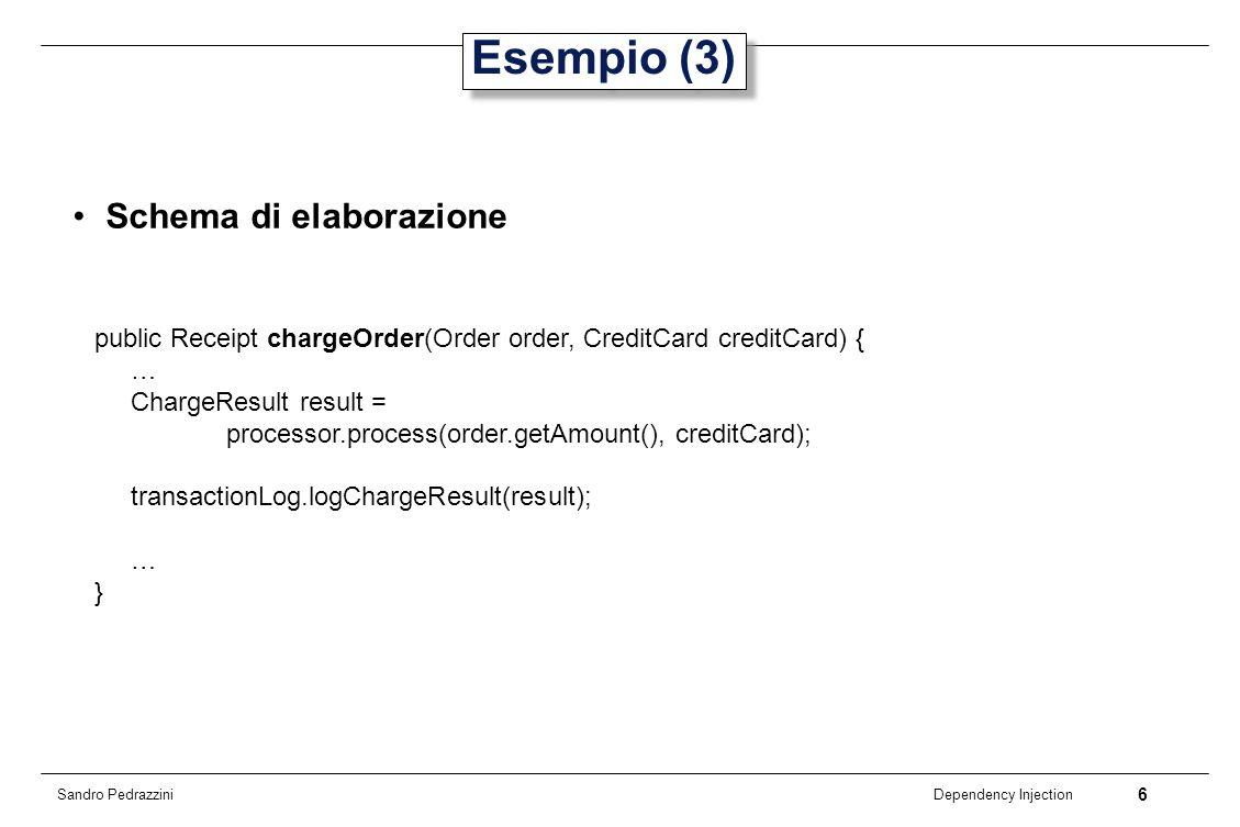 Esempio (3) Schema di elaborazione