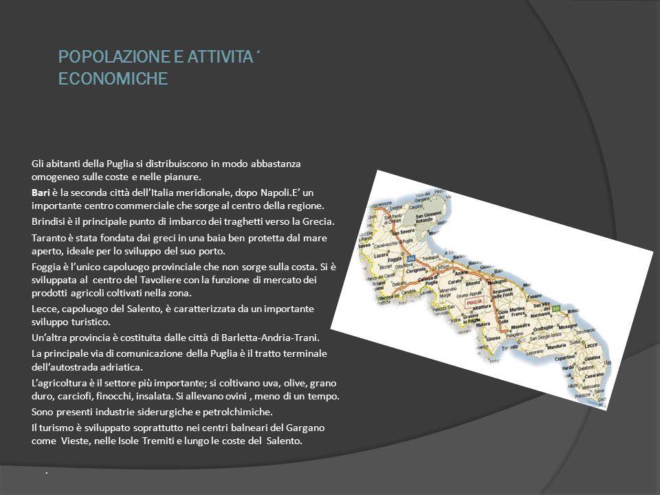 POPOLAZIONE E ATTIVITA ' ECONOMICHE