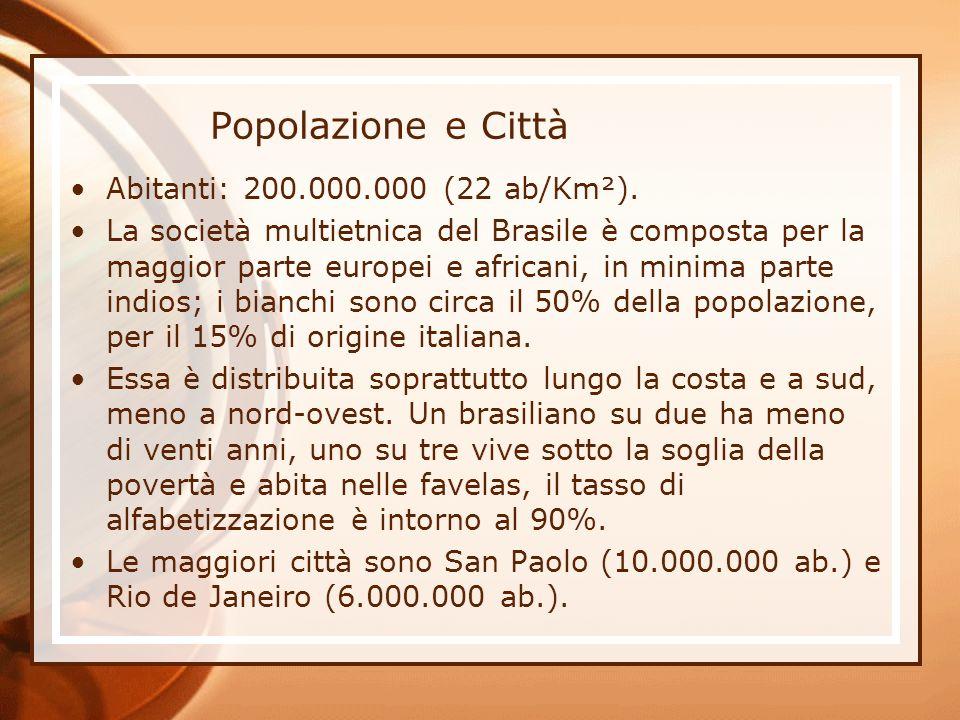 Popolazione e Città Abitanti: 200.000.000 (22 ab/Km²).