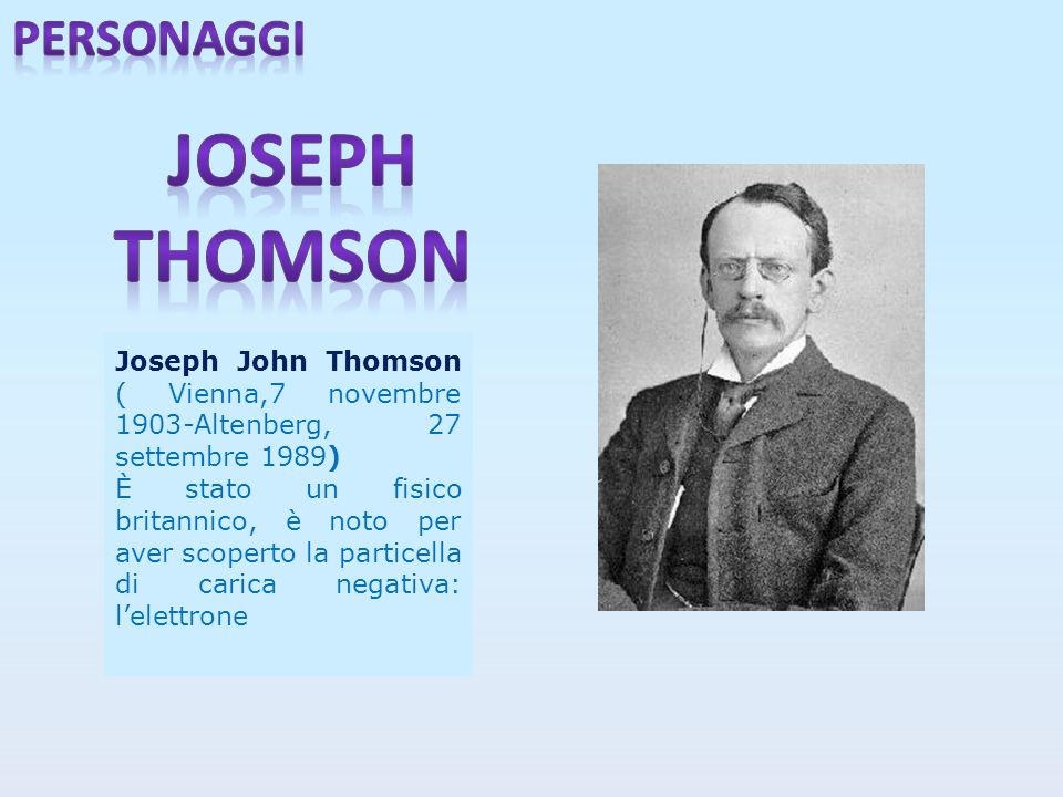 Joseph thomson personaggi