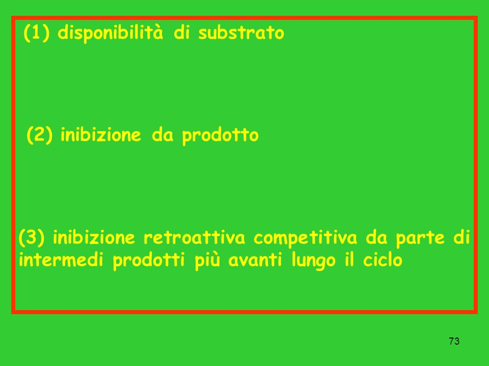 (1) disponibilità di substrato