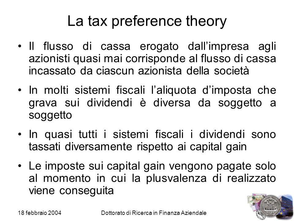 La tax preference theory