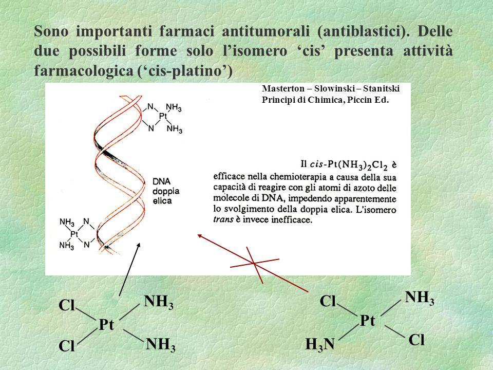 Sono importanti farmaci antitumorali (antiblastici)