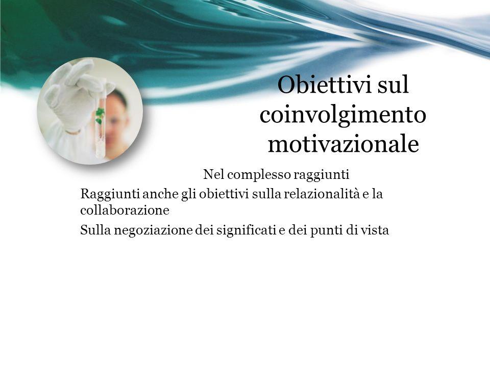 Obiettivi sul coinvolgimento motivazionale