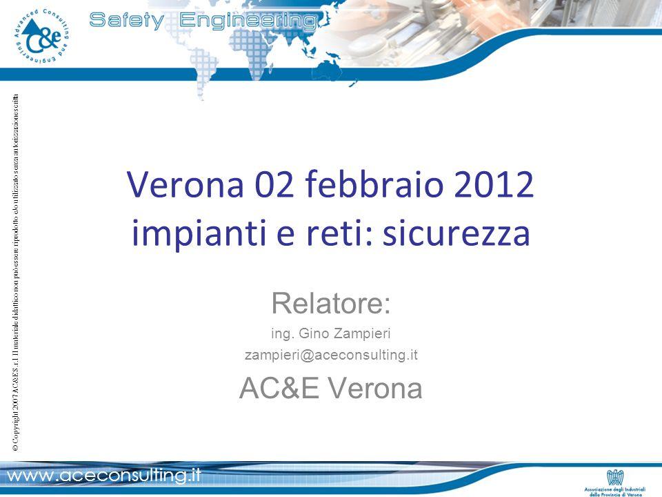 Verona 02 febbraio 2012 impianti e reti: sicurezza