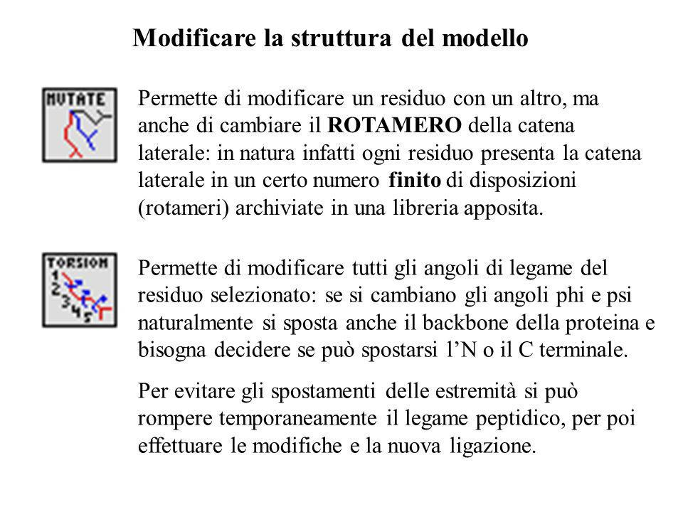 Modificare la struttura del modello