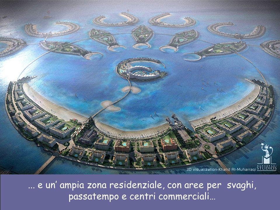 ... e un' ampia zona residenziale, con aree per svaghi, passatempo e centri commerciali…