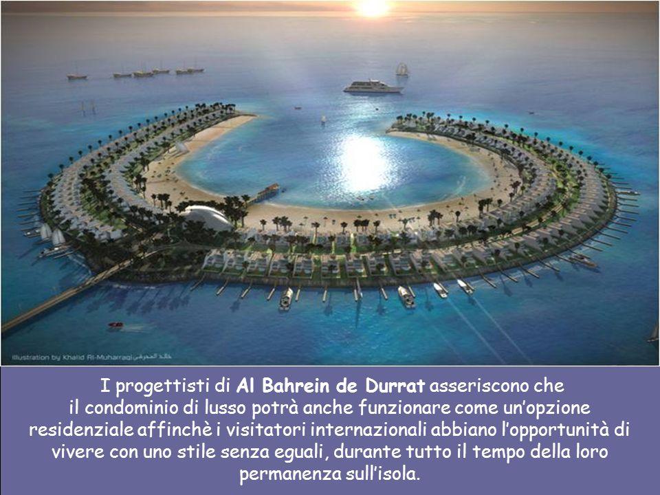 I progettisti di Al Bahrein de Durrat asseriscono che il condominio di lusso potrà anche funzionare come un'opzione residenziale affinchè i visitatori internazionali abbiano l'opportunità di vivere con uno stile senza eguali, durante tutto il tempo della loro permanenza sull'isola.