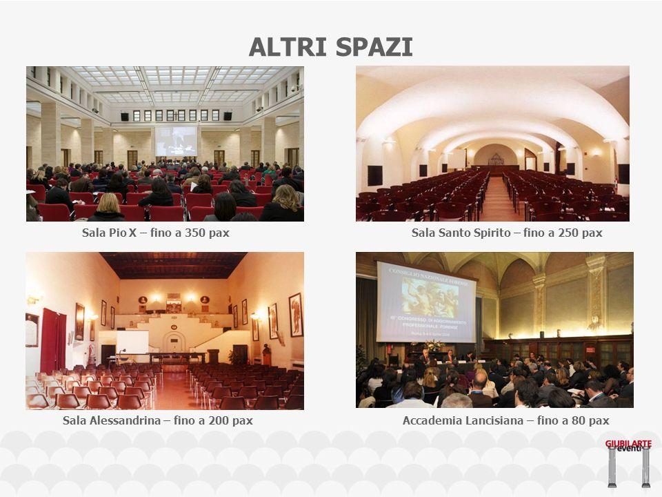 ALTRI SPAZI Sala Pio X – fino a 350 pax