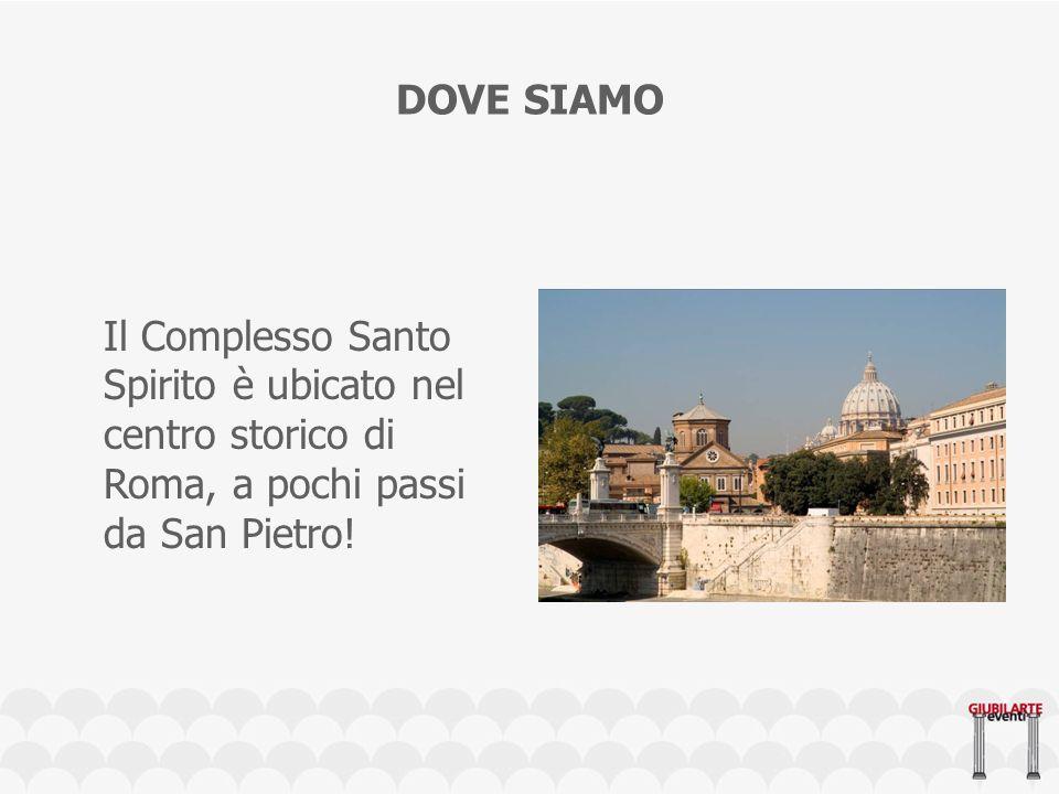 DOVE SIAMO Il Complesso Santo Spirito è ubicato nel centro storico di Roma, a pochi passi da San Pietro!